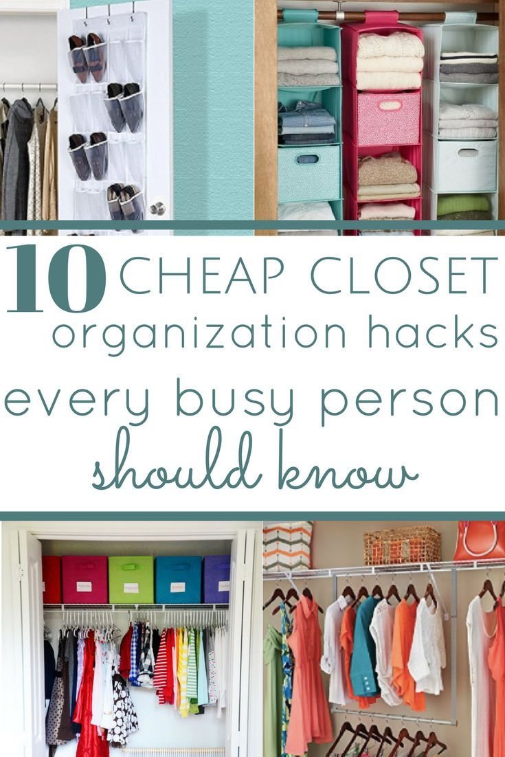 28 Cheap Closet Organization Hacks Everyone Should Know  Cheap