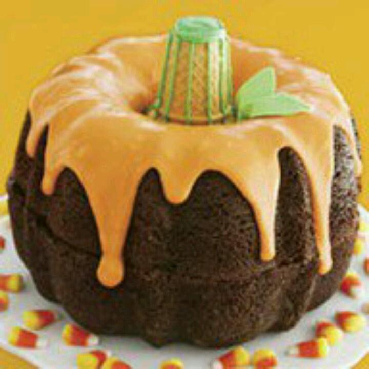 Pumpkin Shaped Chocolate Bundt Cake