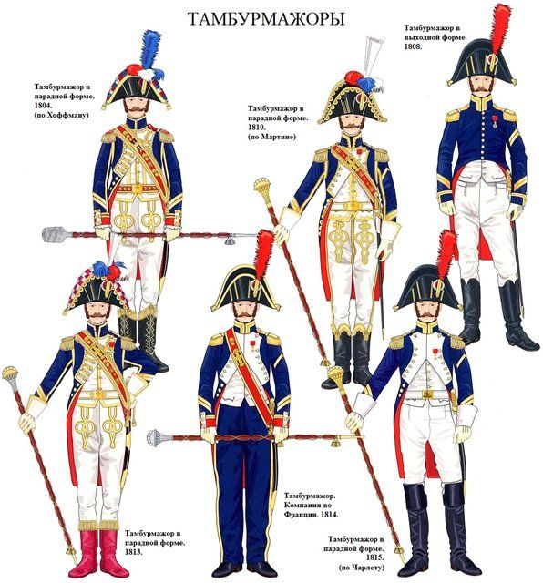 French; Imperial Guard, Chasseurs a Pied, Drum Majors