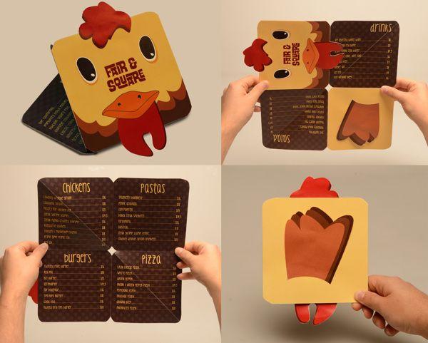 menu design for fair by ece karaca restaurant menu designrestaurant ideaskids