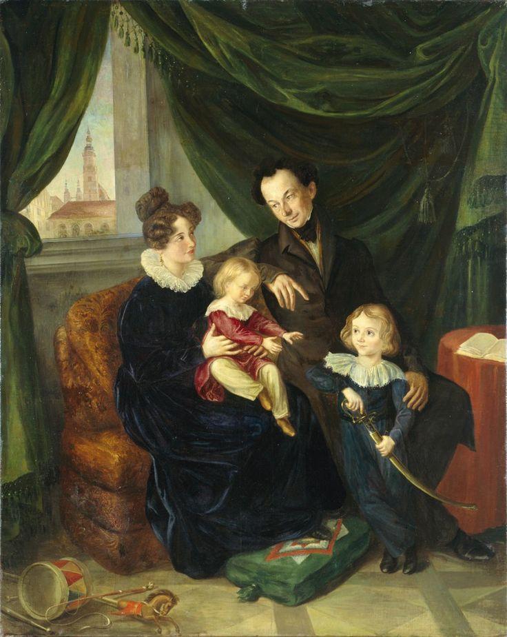 Carl Adalbert Herrmann 1832 The family of the Squire Engel in Cosel, Silesia,