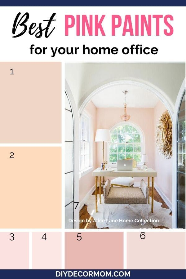 Boost Your Creativity Focus And Productivity With These Beautiful Pink Paint Colors To Create The Fe In 2020 Office Paint Colors Home Office Colors Pink Paint Colors