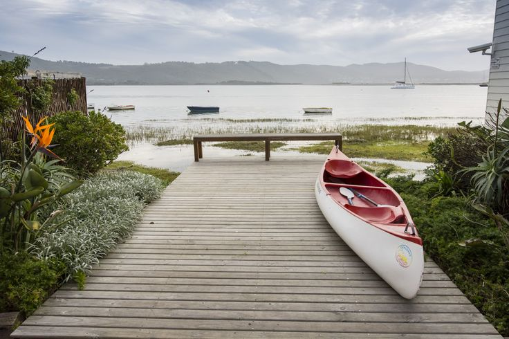 View over our canoe and the Knysna Lagoon, www.thelofts.co.za.