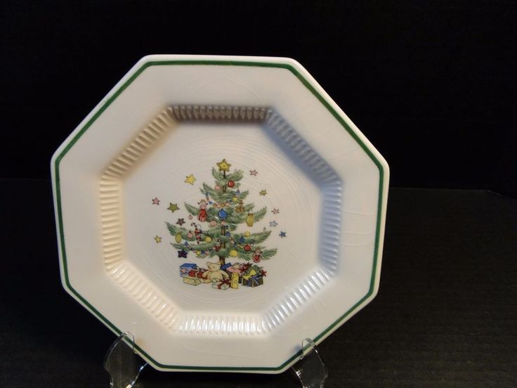 Nikko Christmastime Salad Plate 8 1/4  Octagonal Christmas Tree & Best 17 Nikko Holiday Dinnerware! images on Pinterest | Nikko ...