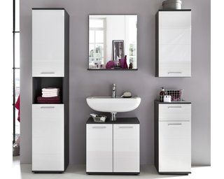 Badspiegel Mit Ablage Smart 60 Cm X 71 Cm X 20 Cm Weiß Grau