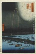 Fireworks at Ryogoku from the series One Hundred Famous View...  by Utagawa or Ando Hiroshige