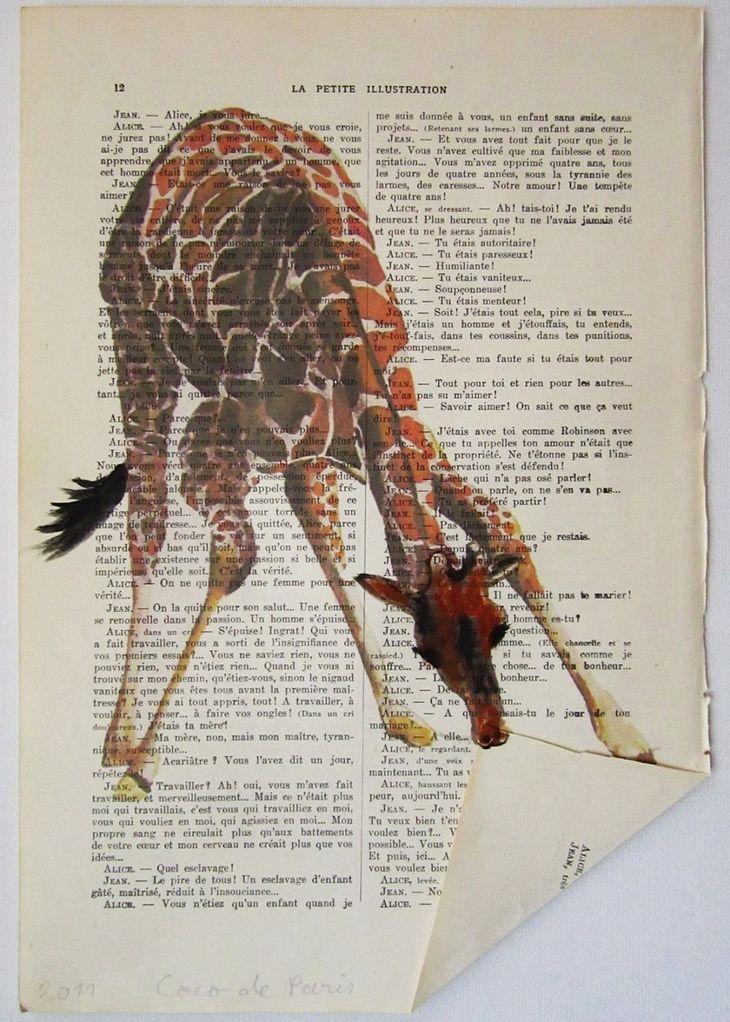 book art: giraffe!