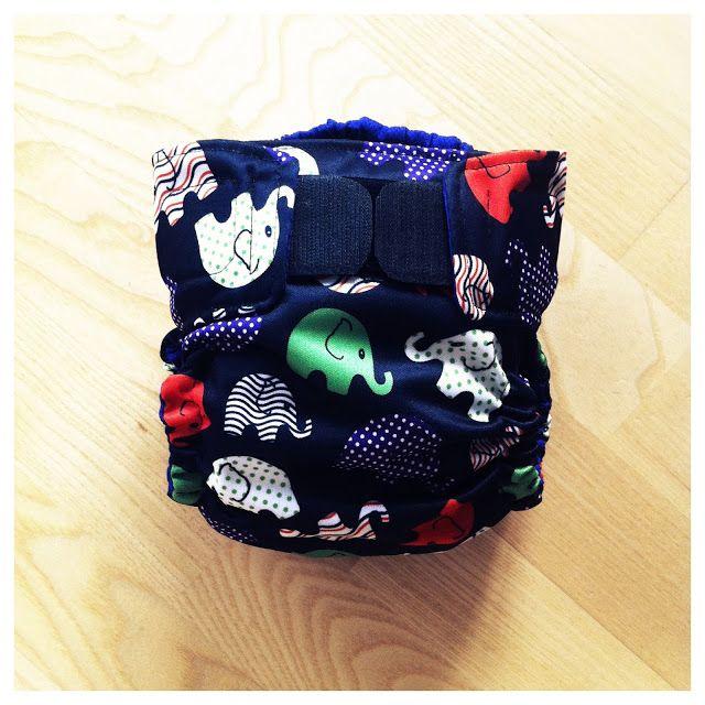 Home sewn cloth diaper, pattern Darling diaper.