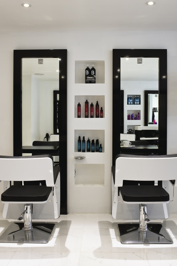White hair salon chairs - Inkfish Hair Salon By Absolute Interiors Www Absolutedesign Co Uk