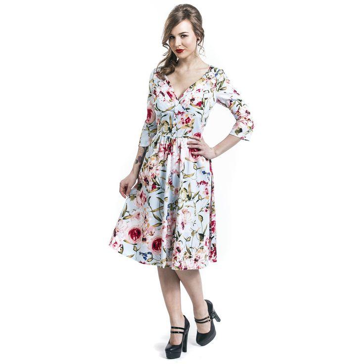 """Abito di media lunghezza """"Flower Dress"""" del brand #VoodooVixen."""
