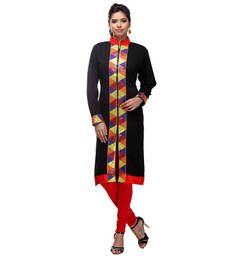 Buy black acrylic wool blend embroidered kurti kurtas-and-kurti online