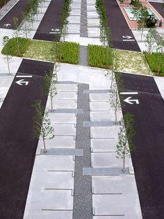 landscaped parking lot - Google Search
