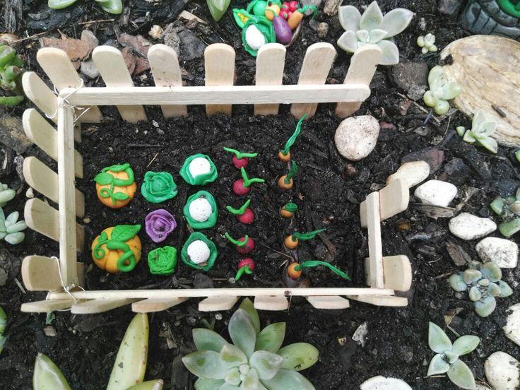 Fairy garden, veggie garden