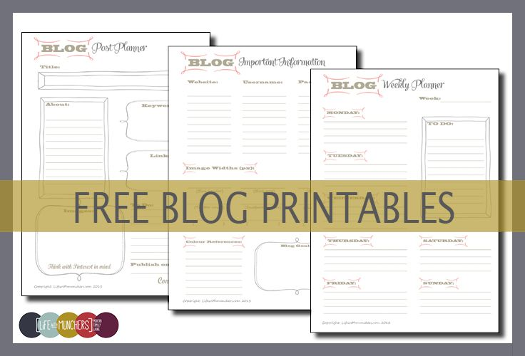 Printable blog planners parenting blogs weekly planner for Design your own planner online