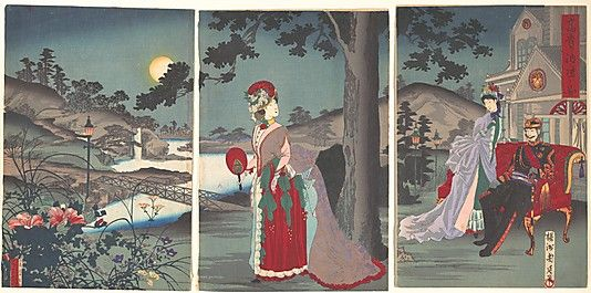 Nobility in the Evening Cool Toyohara Chikanobu