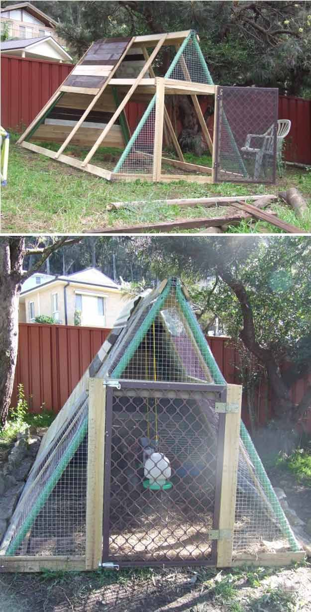 Swing Set Chicken Coop | 15 More Awesome Chicken Coop Ideas and Designs | Cheap and Easy DIY Projects For Your Homestead by Pioneer Settler at http://pioneersettler.com/15-awesome-chicken-coop-ideas-designs/