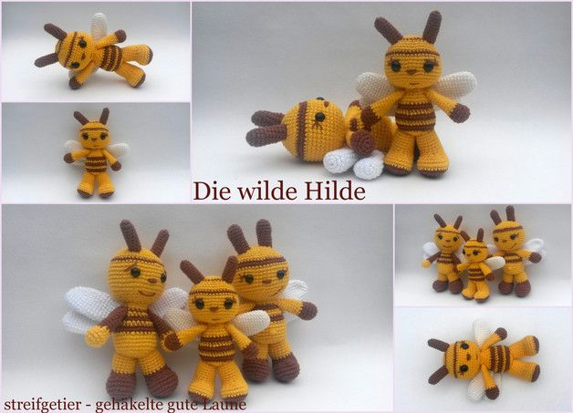 Häkelanleitung Die wilde Hilde made by Streifgetier via DaWanda.com