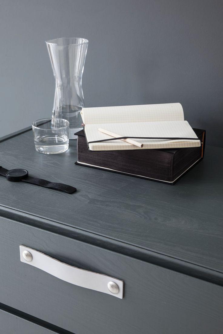 Design Studio Nu - leather handle - grip - size 4  - white