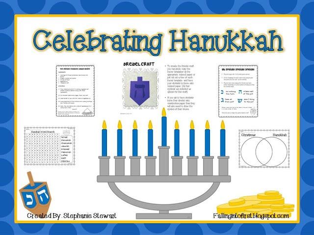 FREE Celebrating Hanukkah Mini Unit: K-2nd