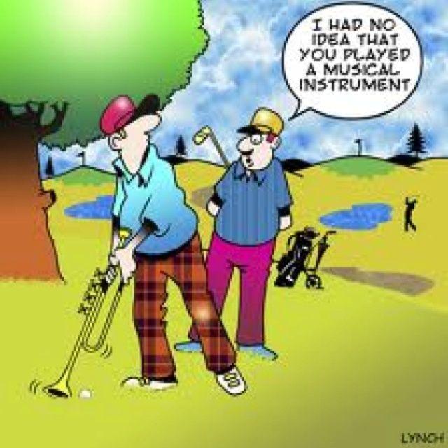 Musician golfer