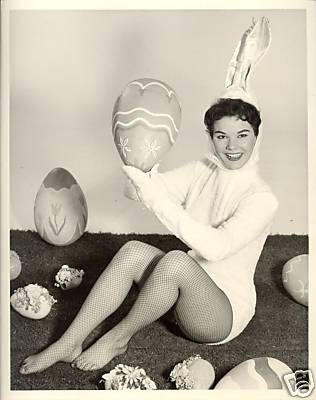 A Joyce Beatty Easter is the best Easter....Big Colorful Black & White Eggs...and Joyce as Mrs. Bunny!