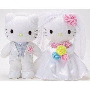 Hello Kitty - Happy Wedding Bridal Plush SET: Plush Sets, Happy Wedding, Bridal Plush, Cakes Toppers, Funny Commercial, Ads Funny, Dear Daniel, Hello Kitty, Bridal Sets