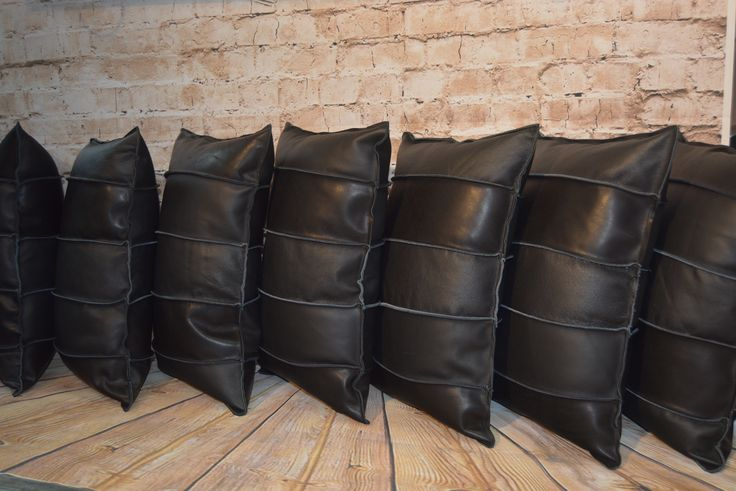 Leather cushions by custom order