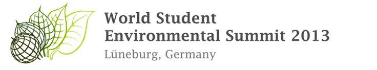 Der sechste World Student Environmental Summit (WSES) wird vom 16. bis 20. September 2013 an der Leuphana Universität Lüneburg stattfinden. Mehr als 80 Delegierte aus der ganzen Welt treffen sich, um zu diskutieren, wie Universitäten eine nachhaltige Entwicklung voranbringen können. Der erste WSES wurde im Jahr 2008 von der Doshisha University in Kyoto im Anschluss an den damaligen G8-Gipfel in Japan organisiert.