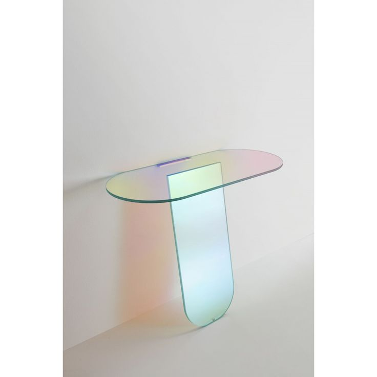 Glas Italia Shimmer Console Table by Patricia Urquiola #uberinteriors