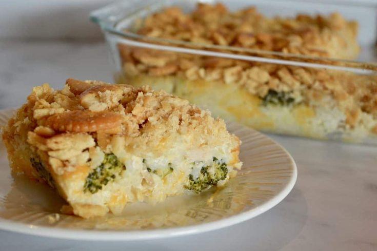 Chicken Broccoli Rice Ritz Casserole