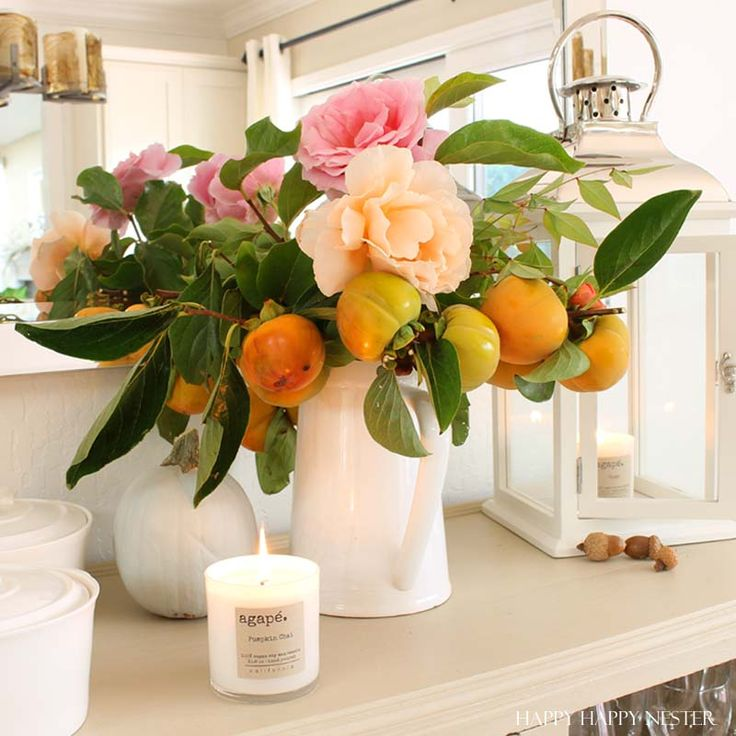 Dining Room Table Centerpieces In Gold Apple