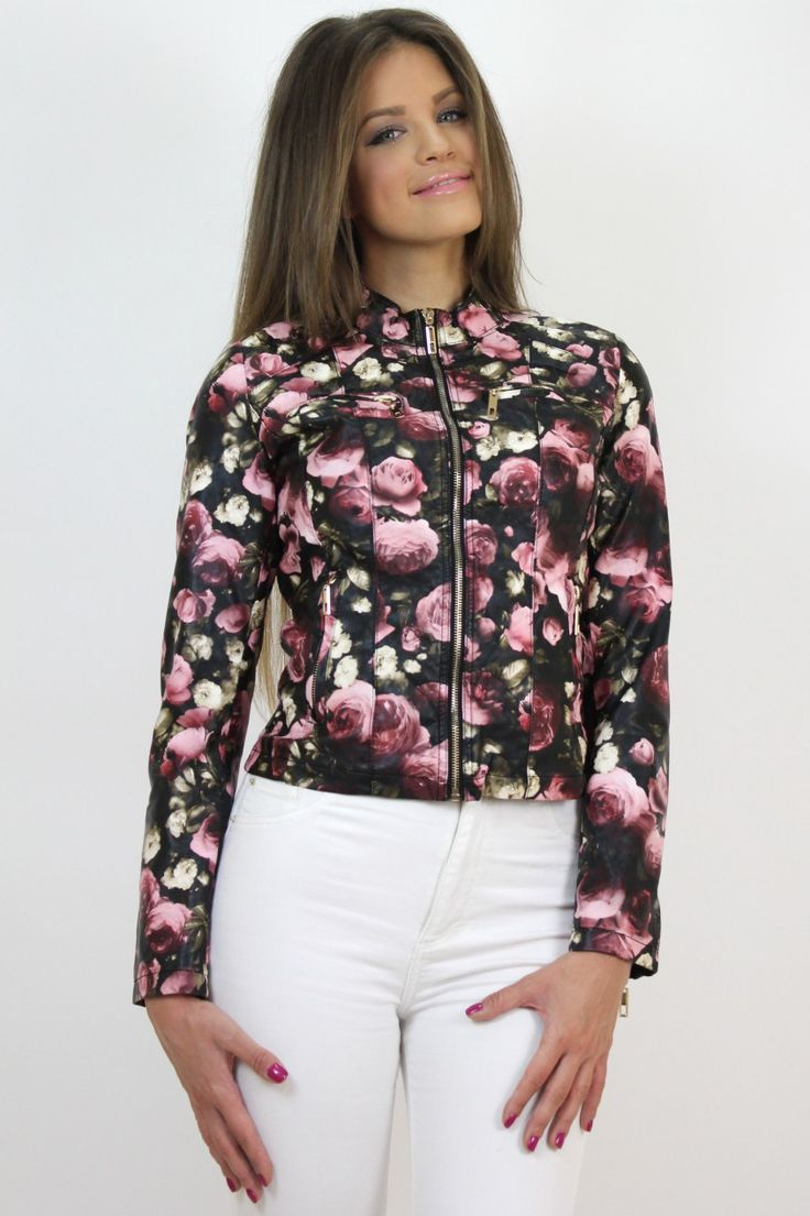 Girly glam floral jacket for those who adore chic #prints...Available at www.famevogue.ro.   #floral #jacket #fashion #style