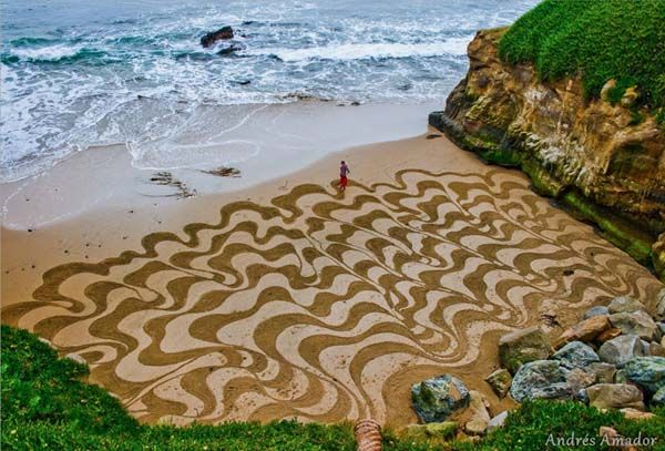 Andre Amador's Playa Paintings are Sandy Works of Art