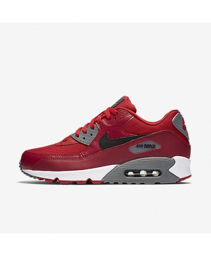Nike Air Max 90 Essential Gym Red Noble Red Cool Grey Black ...