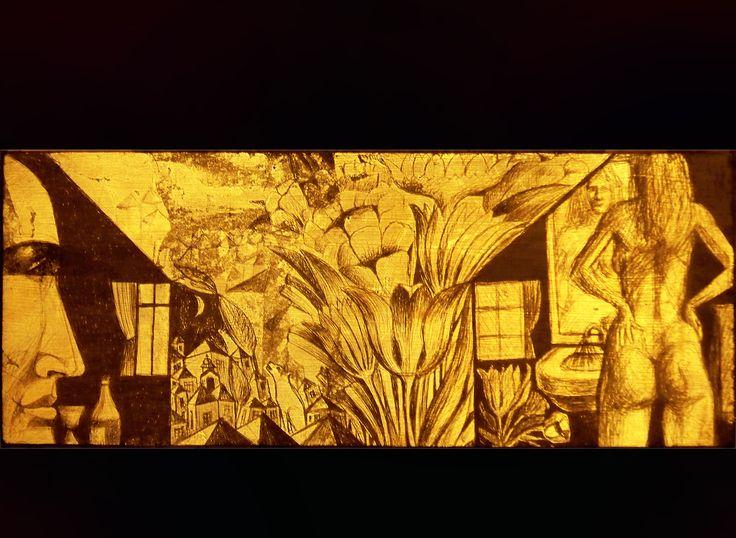 Foita metalica aurie gravata/Engraved golden metalic foil