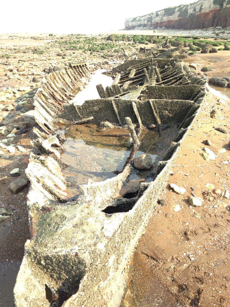 Shipwreck, north Norfolk Coast