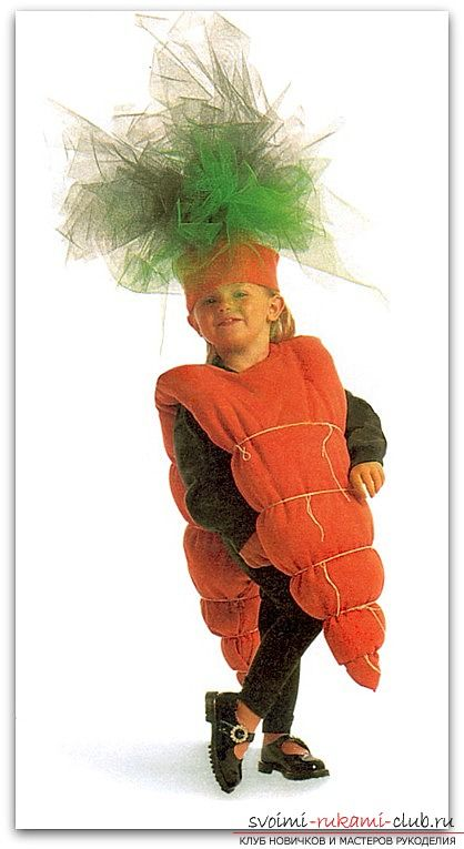 Костюм морковки и его фото отразит весь спектр и палитру ярких цветов 19 фотографий