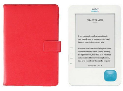 """Kobo eReader Red Leather Case Folio - Real Leather (Made for official Kobo eReader) by DermaPad. $1.95. Made for Kobo eReader. Made Of Fine Workmanship and High Quality 100% Real Leather. Slots for Business Cards & Papers. Magnetic Closure System. The perfect case for your Borders Kobo eReader! ($9 Standard Shipping to Canada).  This Kobo Case is for the Official Kobo eReader that measures 4.7"""" x 7.2"""" x 0.4"""""""