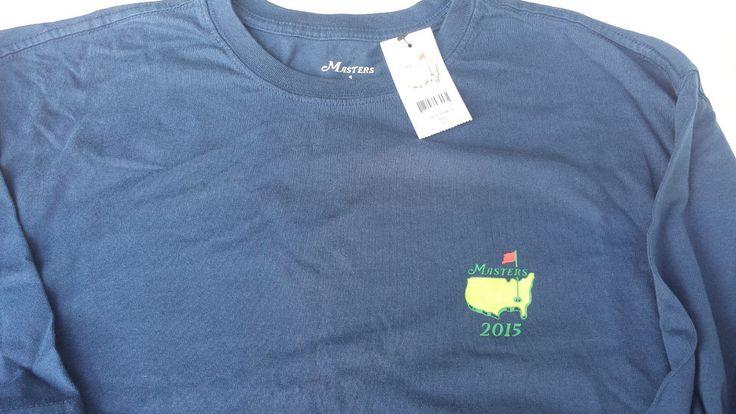 PGA Masters Champions 2015 Navy Blue Augusta National T-Shirt Men's Sz XL ~ NEW #Masters