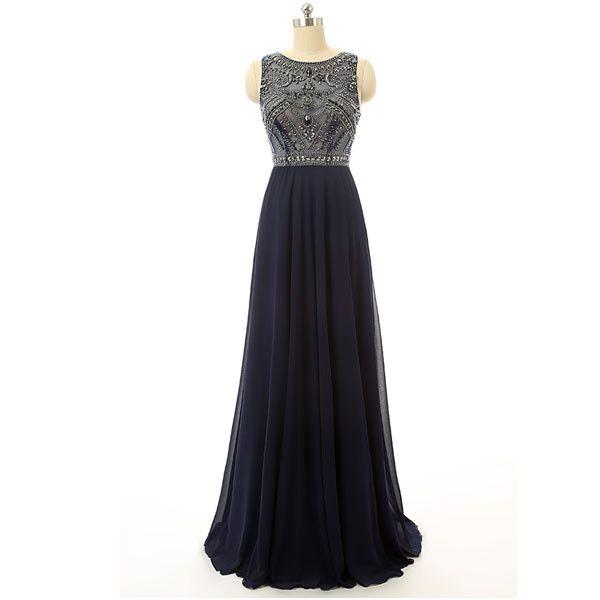 Navy Prom Dresses,Long Prom Dresses,Charming Prom Dress,2016 Prom Dress,Party Dress,BD145