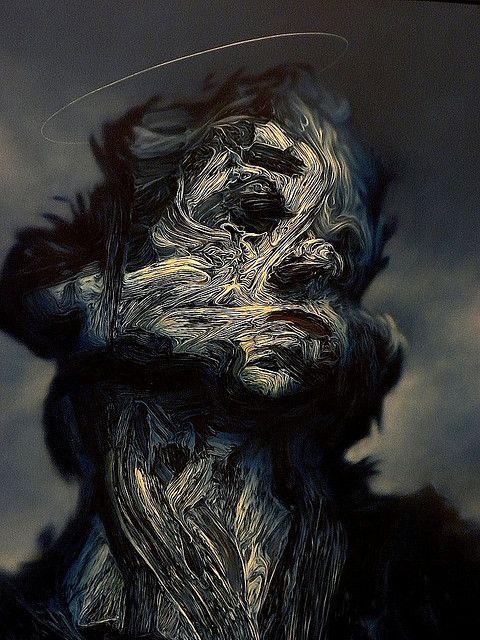 Glenn Brown #illustration #portrait #art