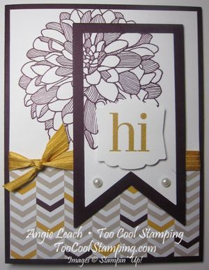 June Regarding Dahlias Class Kit - double-time stamping, banner framelits, artisan label punch, moonlight dsp stack, stampin up, cards  Details at www.toocoolstamping.com