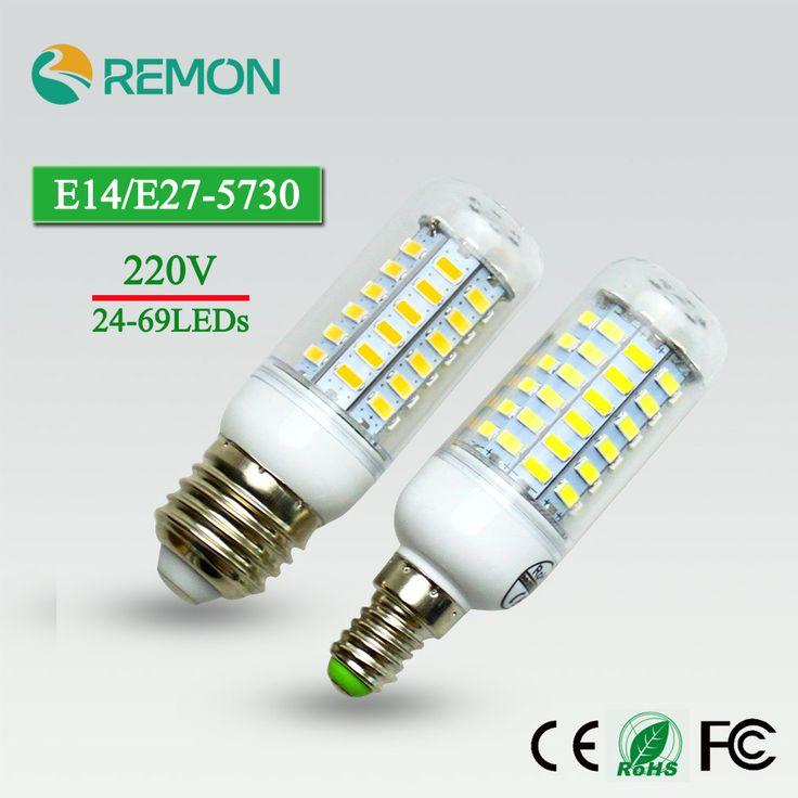 24/36/48/56/69 LEDs Super LED Jagung Bulb 5730 SMD E27/E14 220 V LED Lampu Bulb Superlight Chandelier LED Spot Bulb