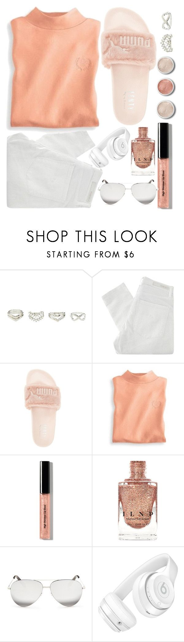 """#26"" by idonthavebrains ❤ liked on Polyvore featuring Charlotte Russe, Terre Mère, Nobody Denim, Puma, Blair, Bobbi Brown Cosmetics, Victoria Beckham and Beats by Dr. Dre"