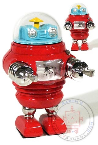 Helmet Head Christmas Red Robot Clock : Tokibot by Tokyobay