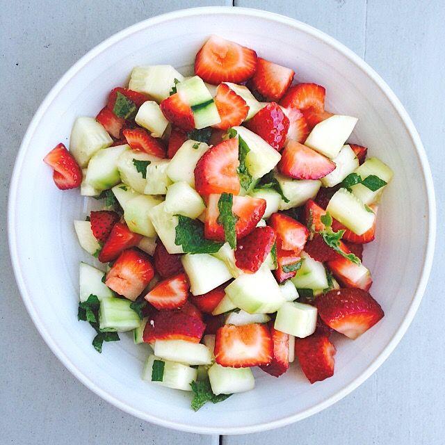 Strawberry Mint Salad. An Autoimmune Paleo Salad perfect for summer!