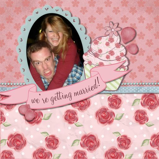 A Scrapbook by Becks (one third of our little illustration and design team!) and her hubby-to-be!    'We're getting married!, a project by Becksie'