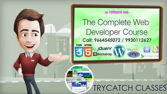 Get Certification Training in Mumbai. Work on live projects in PHP, Wordpress, Magento, AngularJS, #WebDevelopment mumbai course at TryCatch Classes. Best Software Testing, Android, IOS course in mumbai  TryCatch Classes 1213/1214, 12th Floor, GoldCrest Business Center,Opposite ManubhaiJewelers & Above Westside, L.T. Road, Borivali west,Mumbai 400092 91 96645 45072