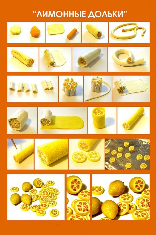 Лимонные дольки полимерка