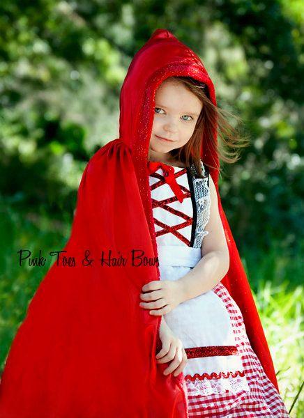 Rojo Caperucita vestido  Little rojo Riding hood tul vestido
